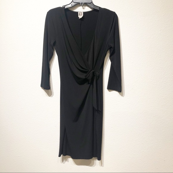 Anne Klein Dresses & Skirts - Anne Klein black wrap dress